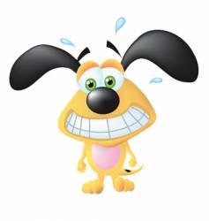 nervous dog vector image