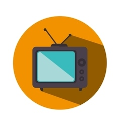 Old television isolated icon vector