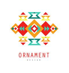 ornament logo design colorful ethnic ornate vector image vector image