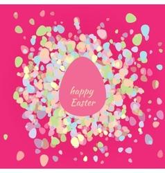 Postcard happy Easter egg vector image vector image