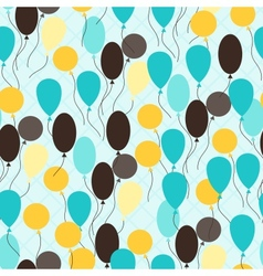 Retro seamless pattern with ballons vector image vector image