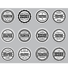 Set icons Premium design graphic vector image vector image