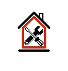 Spanner and screwdriver crossed industrial theme vector