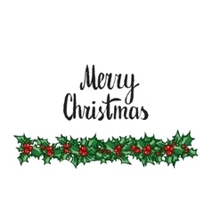 Merry Christmas Hand drawn design element vector image