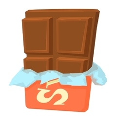 Chocolate icon cartoon style vector image