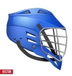 Lacrosse Helmet Side View vector image