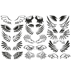 Symbol wings vector