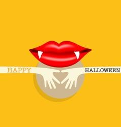 Happy Halloween design background Cute note paper vector image