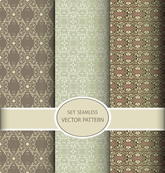 Set of seamless vintage patterns vector