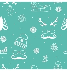 Winter seamless ornament vector