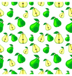 Seamless pattern fruits background with pears vector