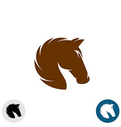 Horse head logo Simple elegant one color vector image