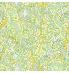 colorful paisley wave seamless pattern vector image
