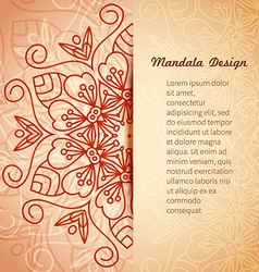 Mandala invitation card vector