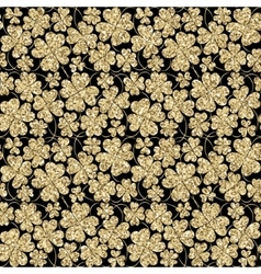 Trendy glitter gold and black seamless vector