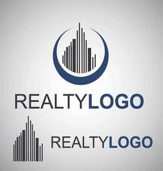 realty logo 2 2 vector image