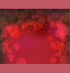 abstract bokeh red lights background vector image vector image
