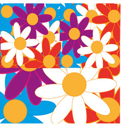 Background from flower vector