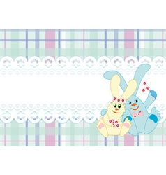background with a couple of rabbits vector image