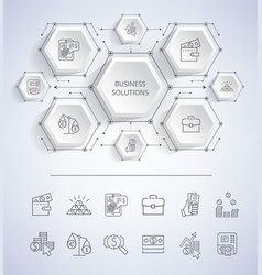 business solutions infographic vector image vector image