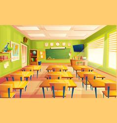 Cartoon empty school college classroom vector