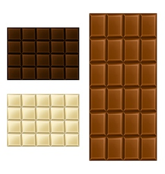 Chocolate bar set vector image vector image