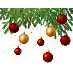 christmas tree decoration background vector image