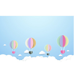 Colorful hot air balloons flying the sky vector