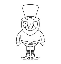 Cute cartoon leprechaun st patricks day mascot vector