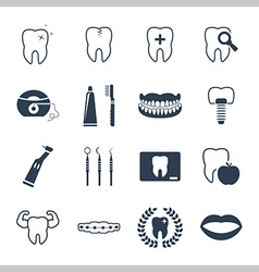 Dental and teeth health icon set vector