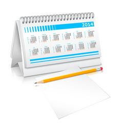 Desk calendar mockup vector