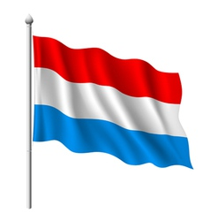 Flag of Luxembourg vector image