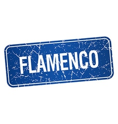 Flamenco blue square grunge textured isolated vector