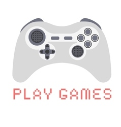 Gamepad video game flat design vector