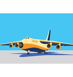 Large cargo plane vector