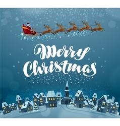 Merry Christmas Xmas greeting card vector image vector image