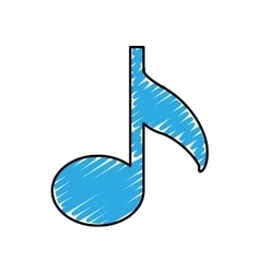 music note icon image vector image vector image