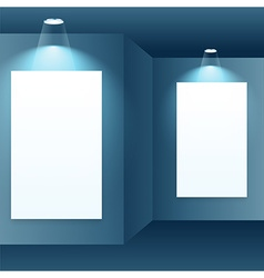 photo frame in gallery interior vector image vector image