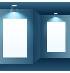Photo frame in gallery interior vector