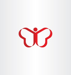 red heat man or butterfly symbol vector image