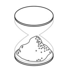 single hourglass icon vector image