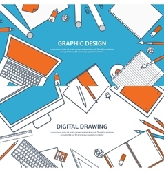 Study and education Lined vector image vector image