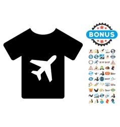 T-shirt icon with 2017 year bonus symbols vector