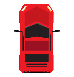 top view of a car vector image vector image