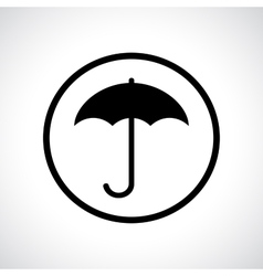 Umbrella in a circle vector image