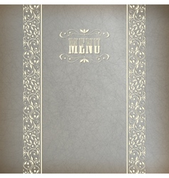 Vintage abstract retro lace banner background vector