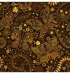 Vintage seamless floral motif background vector image