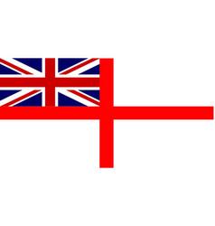 White ensign union jack vector