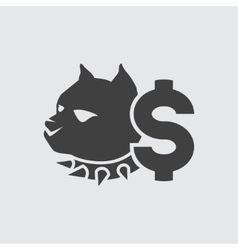 Dog fighting bet icon vector