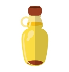 Maple syrup bottle traditional vector